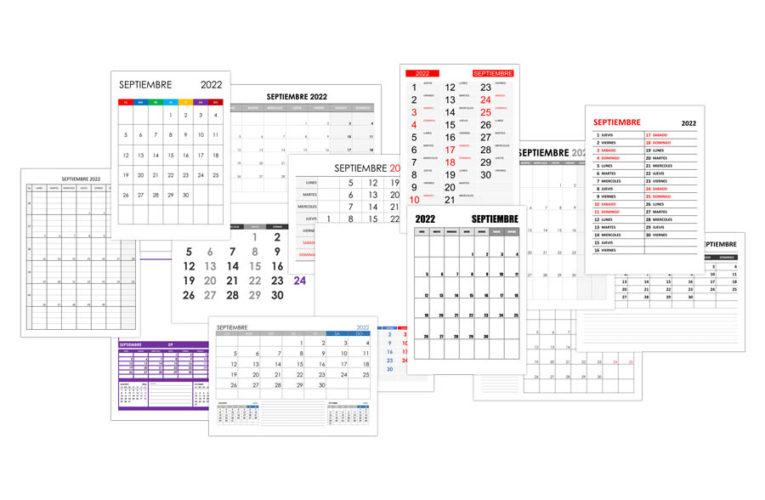 Calendario septiembre 2022