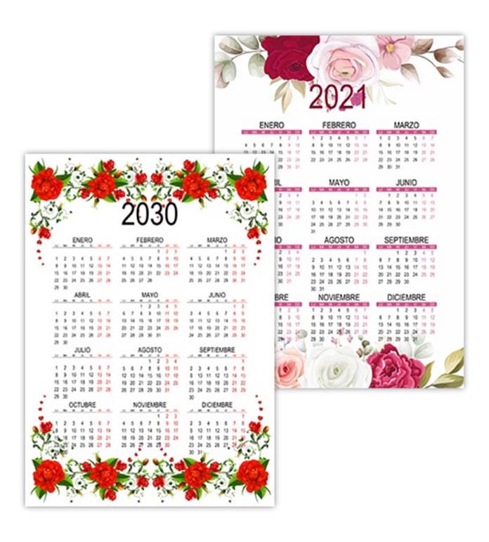Hermoso calendario