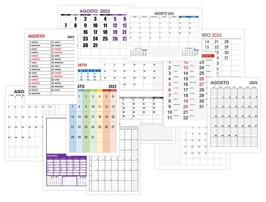 Calendario agosto 2023