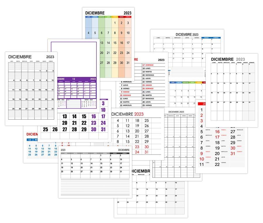 Calendario diciembre 2023