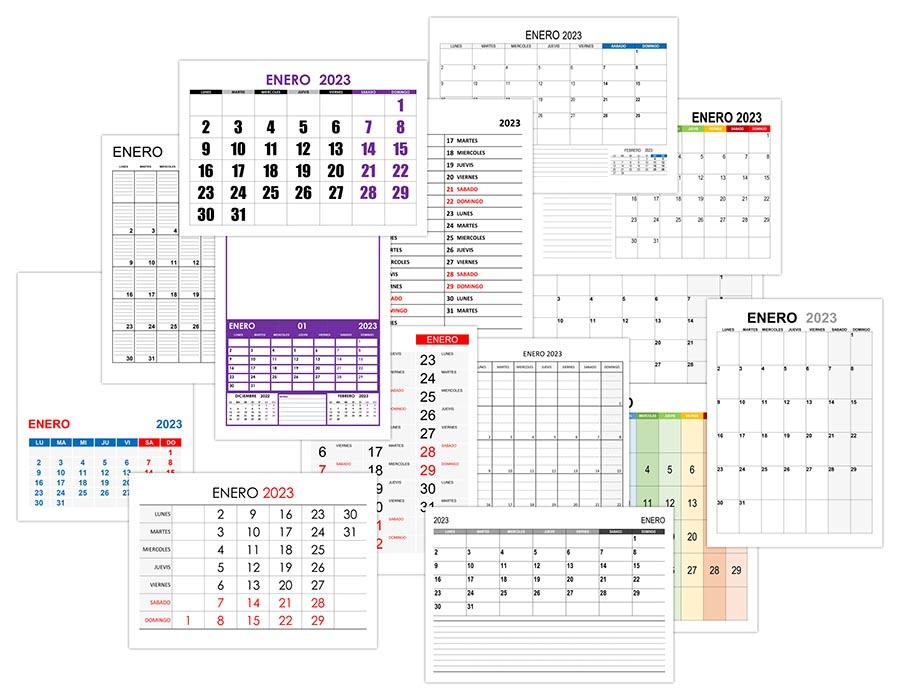 Calendario enero 2023