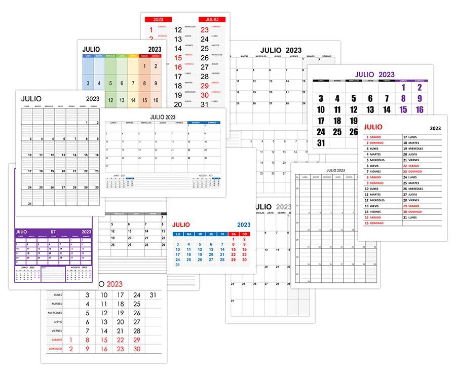 Calendario julio 2023
