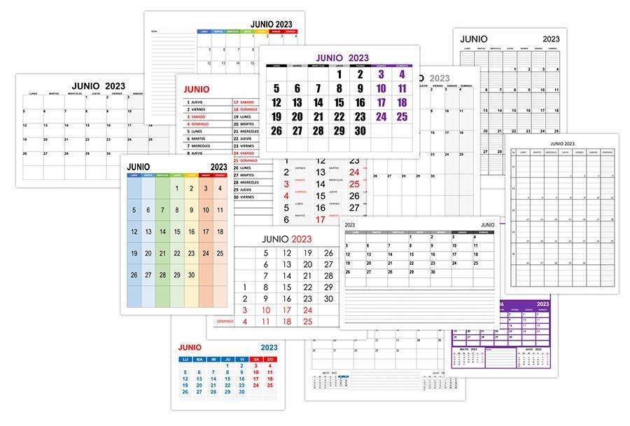 Calendario junio 2023