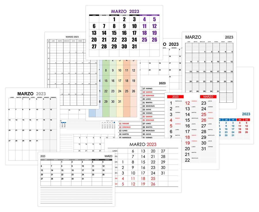 Calendario marzo 2023