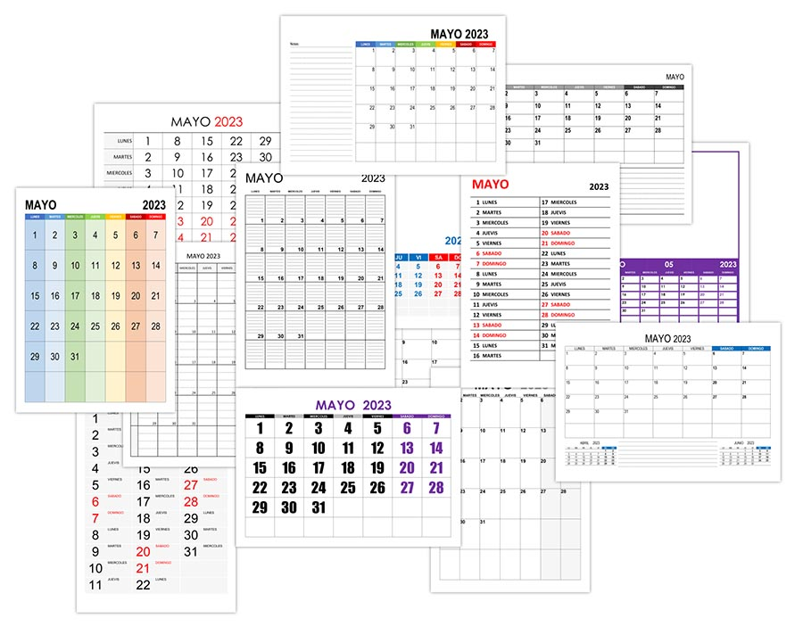 Calendario mayo 2023