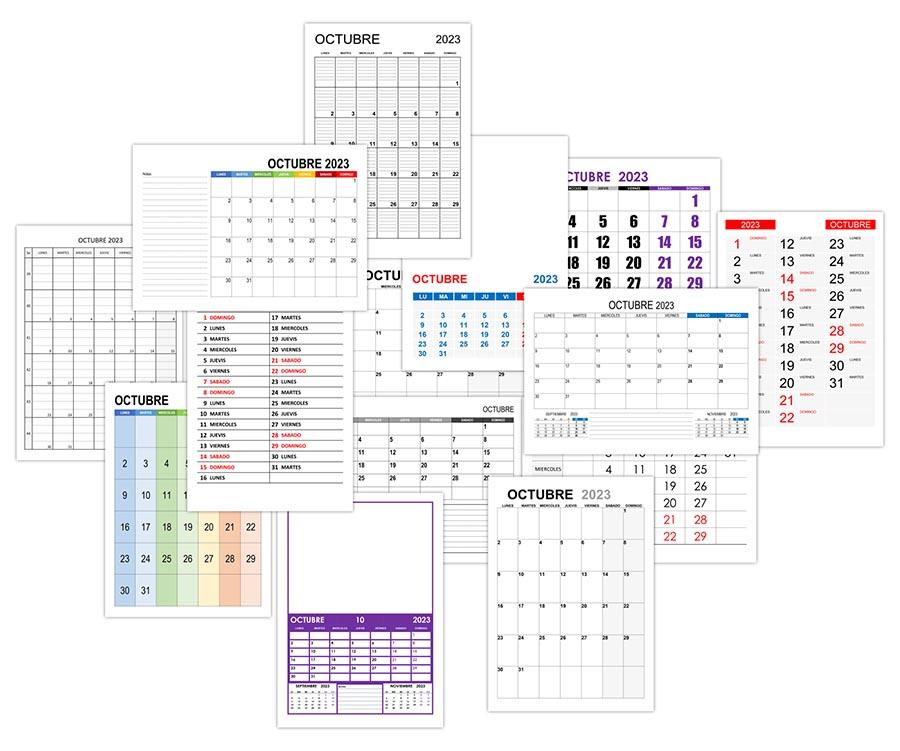 Calendario octubre 2023