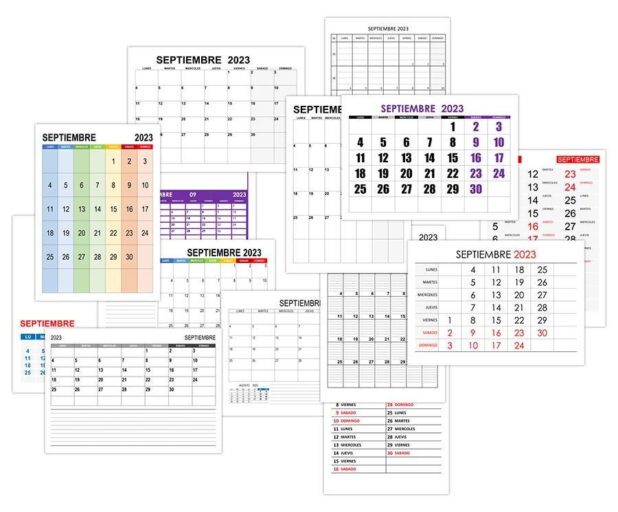 Calendario septiembre 2023